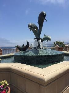 Dolphin sculpture, Monterey CA